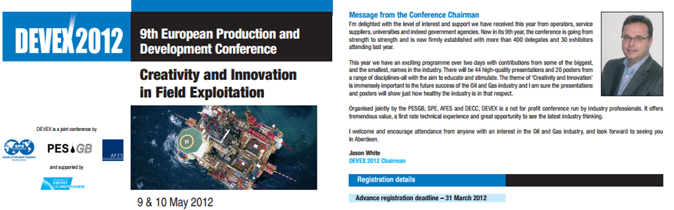 AFES Event – DEVEX Conference, 9th – 10th May 2012