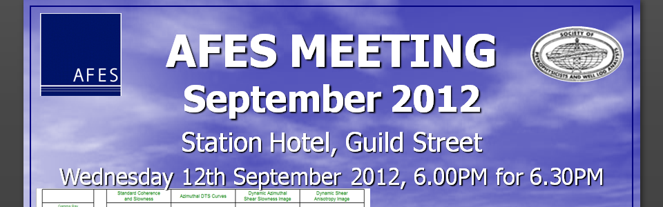 AFES Technical Meeting – LWD Azimuthal sonic logging, 12th September 2012