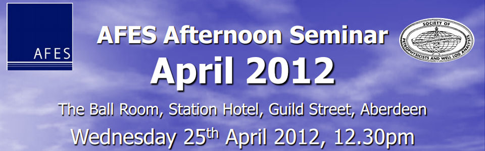 AFES Event – NMR seminar, 25th April 2012
