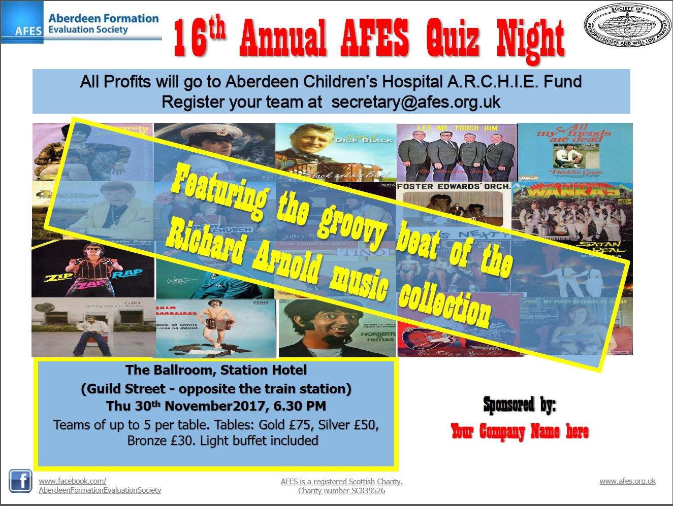 16th Annual AFES Quiz Night – 30th November 2017