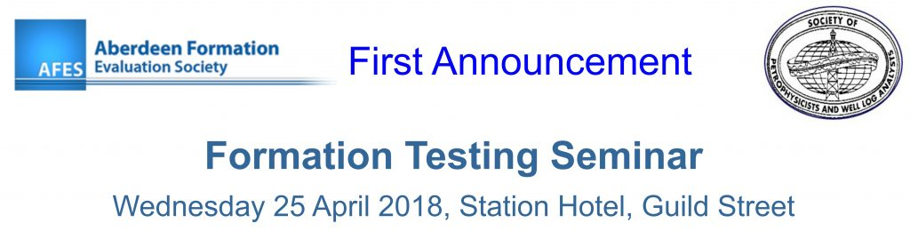 AFES 2018 Seminar Call for Papers: Formation testing