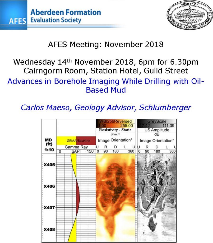 AFES Meeting: 14th November, 2018