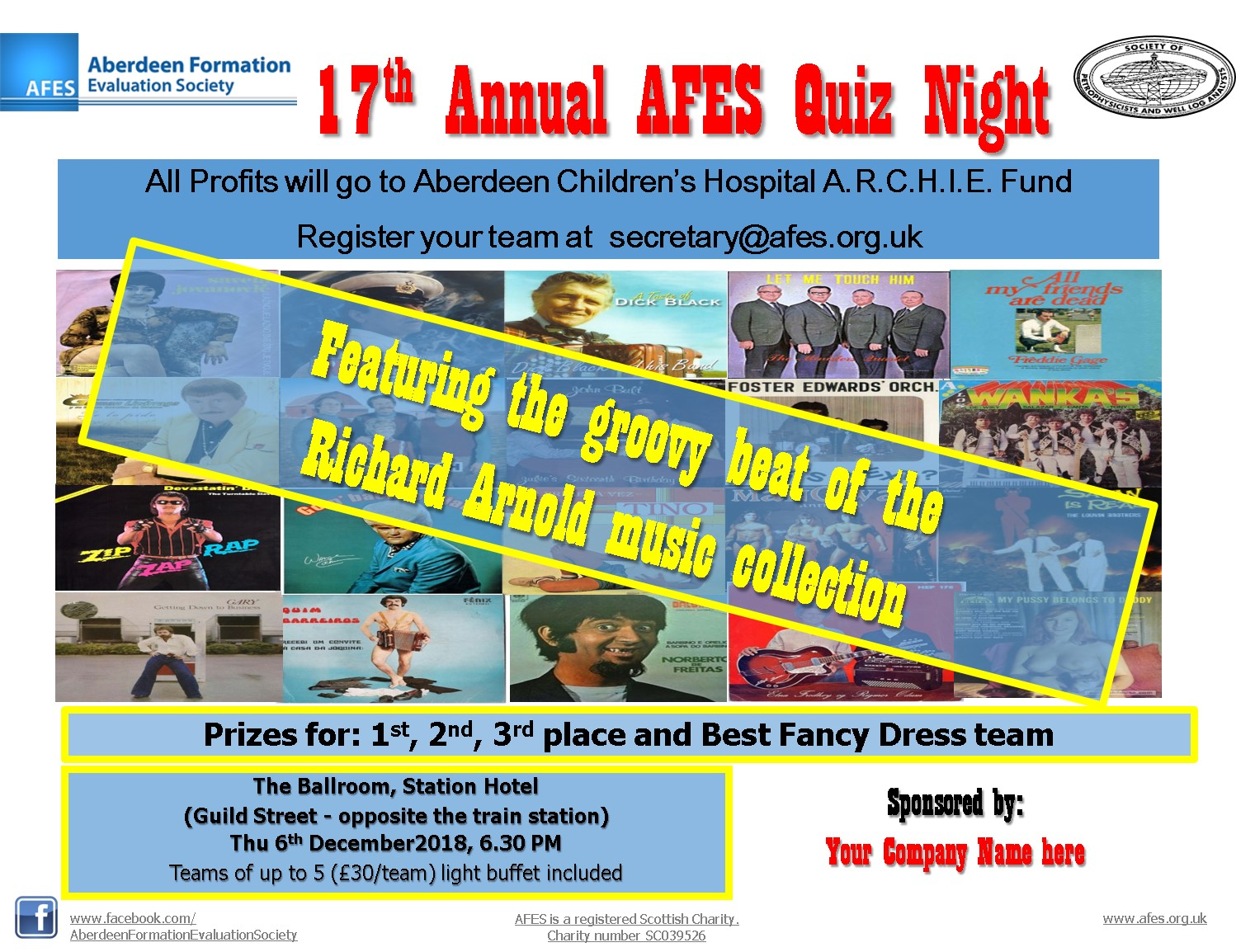 17th Annual AFES Quiz Night – 6th December 2018