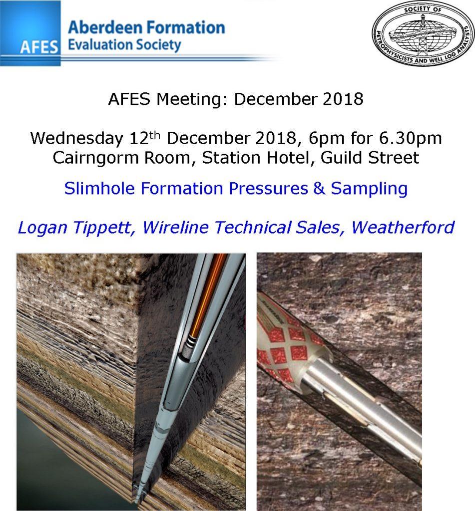 AFES Meeting: 12th December, 2018