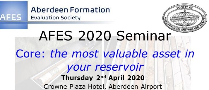 "**Postponed** AFES Full Day Seminar:  ""Core: the most valuable asset in your reservoir"""