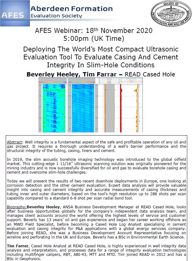 Technical Talk: Beverley Heeley & Tim Farrar, READ Cased Hole
