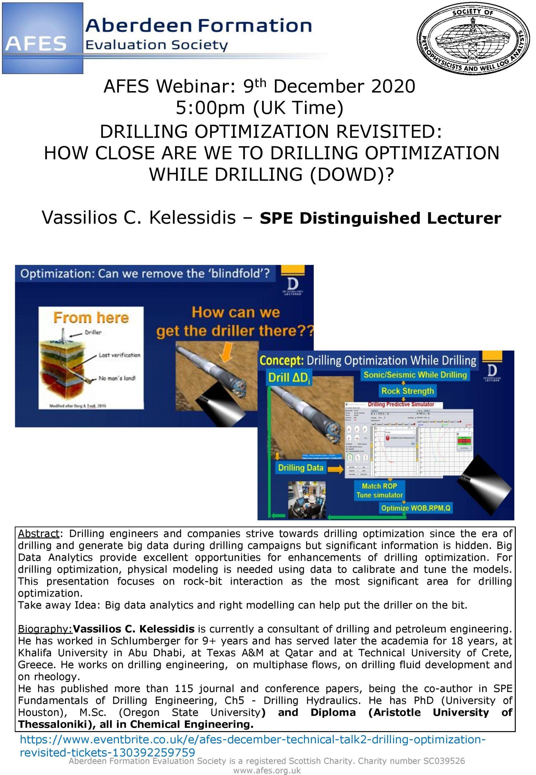 Technical Talk: Vassilios Kelessidis (SPE Distinguished Lecturer)